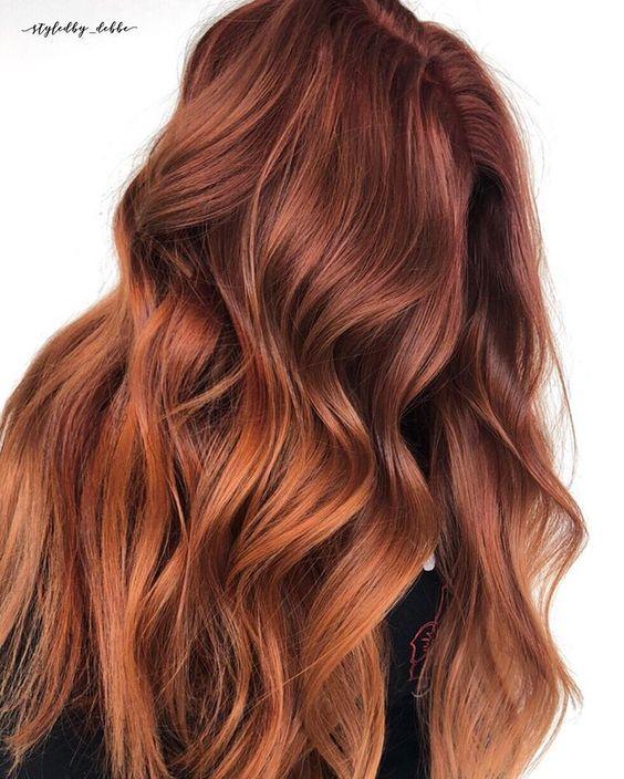 warna rambut coral copper