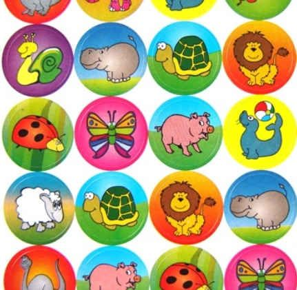 Rainbow Creations Funky Animal Stickers for Children