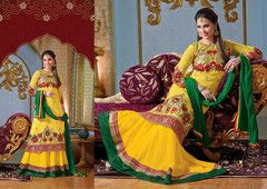 PartyWear Embroidered Georgette Salwar Kameez Dress Material 4005