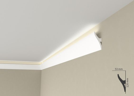 """Lichtleiste """"Wiesemann QL010"""" - Stuckleiste für indirekte Beleuchtung (aus hochfestem Polyurethan) - Licht - LED"""
