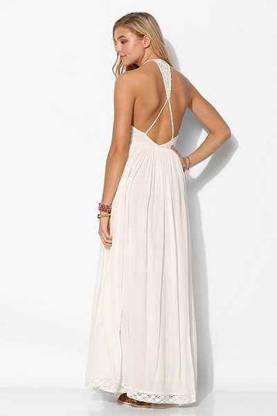Kimchi blue embroidered bodice halter maxi dress urban for Urban outfitters wedding dresses