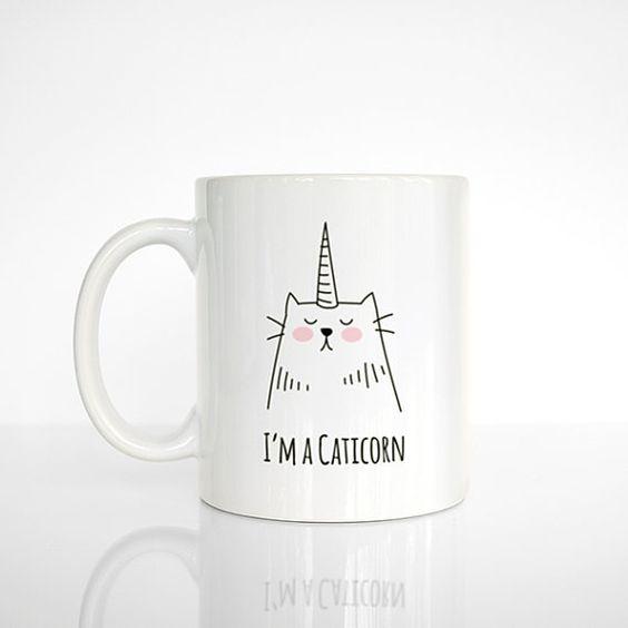 Tasse à café Caticorn, chat Licorne, Mug chat, licorne Mug, Mug drôle, mignon Mug, cadeau café Unique, cadeau amoureux de café, bureau Mug, tasse à café- On aime d'amour | Découvertes et coups de coeur de toutes sortes… qu'on aime d'amour!