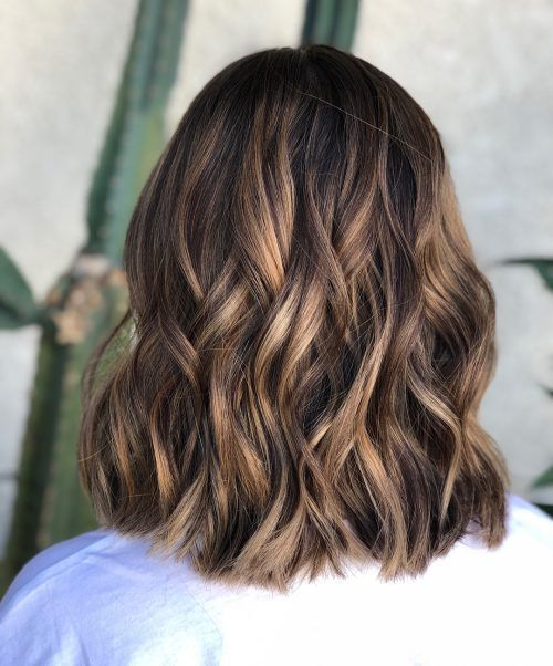 A Medium Length Light Brown Hair Color With Dark Ash Highlights Light Brown Hair Brown Hair Colors Hair Color Light Brown