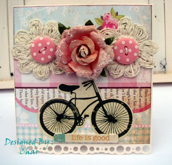 Girls Paperie paper and OA Bike :-): Cardmaking Tags, Beautiful Cards, Scrapbooking Cardmaking, Cardmaking Galleries, Cardmaking Scrapbooking Stuff, Greeting Card, 1A Cardmaking Designs, Cards Bike, Bycicle Cards