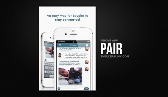 Pair - An App for Long Distance Relationships Romantic Technology ... New age in romanticism :)