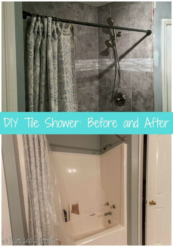 Diy Tile Shower Before And After Diy Tiles Tile Showers And Tile