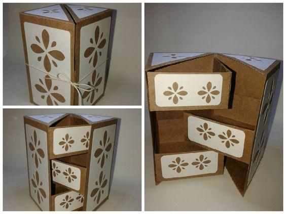 Porta treco Kraft Luxo, elegante opção para lembrancinha ou para presente.... www.adoraveislembrancinhas.com.br   facebook.com/adoraveislembrancinhas