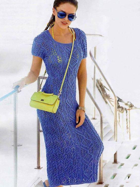 Znalezione obrazy dla zapytania sukienka na szydełku