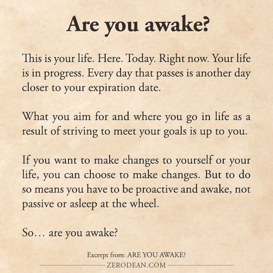 Excerpt from: Are you awake?
