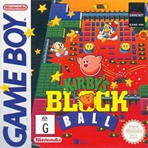 Original Gameboy Game Gbc Gba Sp Kirby S Block Ball Super Rare