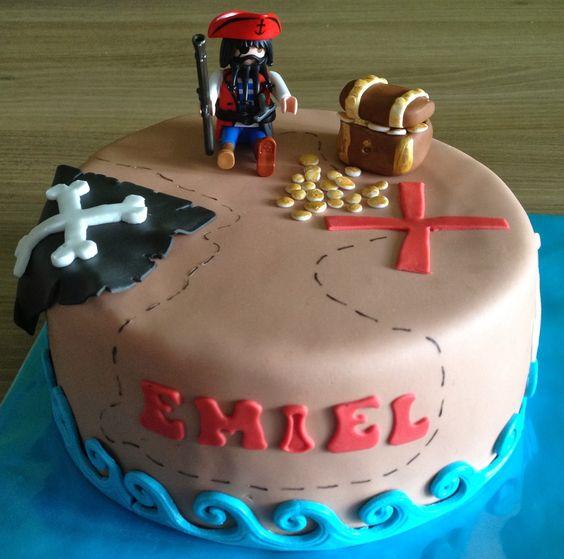 piraten taart , pirate cake , schatkaart