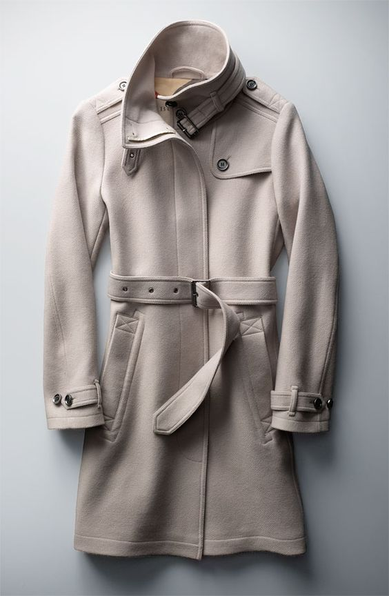The Best Coat Ever: Burberry Brit &39Rushworth&39 Belted Wool Blend