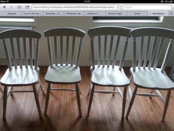 Grenen stoelen, in prachtige witte krijtverf.
