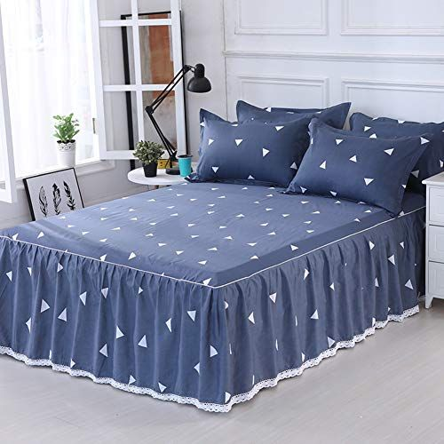 Luxury Fitted Valance Bed Sheet 2 Pillow Covers Ruffle Queen