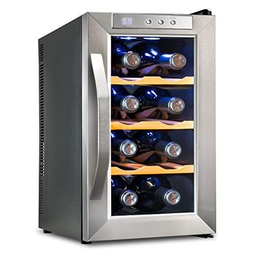Ivation 8 Bottle Thermoelectric Wine Cooler Chiller Counter Top