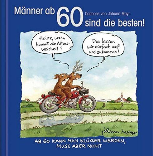 Manner Ab 60 Sind Die Besten Cartoon Geschenkbuch Zum Runden