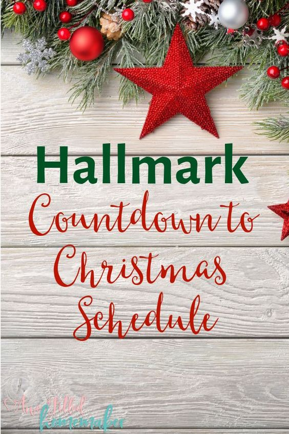 Do you love Christmas Movies? I am sharing the Countdown to Christmas Movie Schedule on Hallmark! Don't miss a single movie! #Hallmark #CountdowntoChristmas #Christmas #Movies #ChristmasMovies