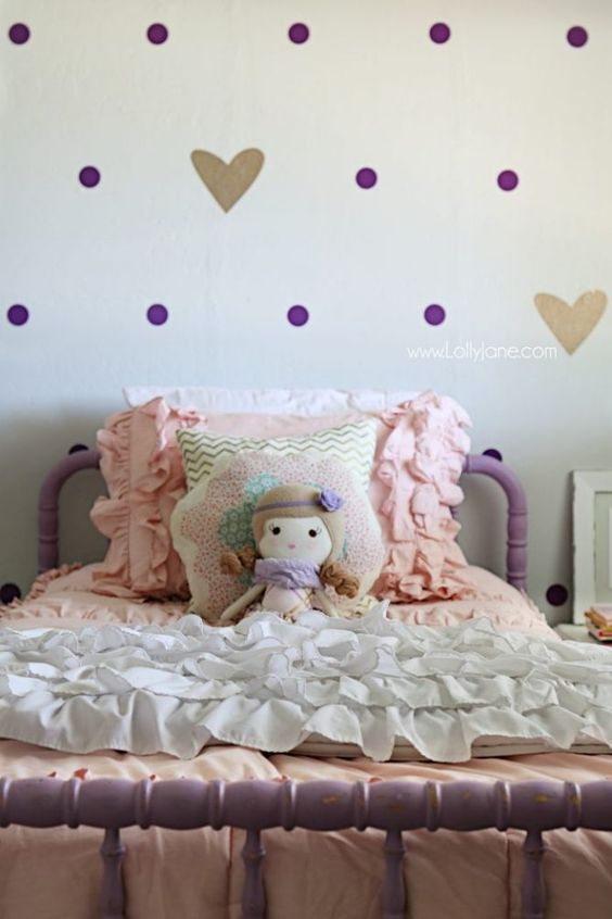 Little girl purple gold bedroom makeover bedroom makeovers bedrooms and gold girl - Little girl purple bedroom ideas ...