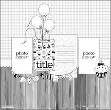 Resultado de imagem para sketch scrapbook layouts