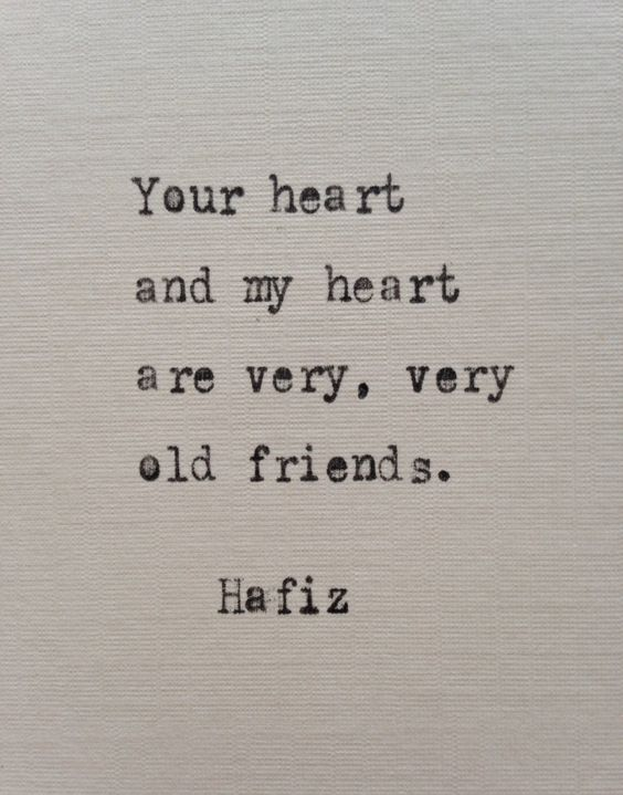 Hafiz love quote hand typed on antique typewriter: