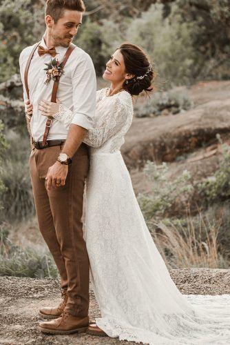 Mens Wedding Attire For Beach Celebration ★  mens wedding attire suspenders with bow tie rustic khaki floraandlane