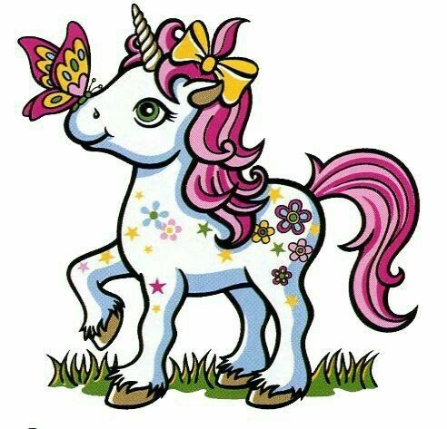Pink Fluffy Unicorn Easy Cute Unicorn Coloring Pages ...