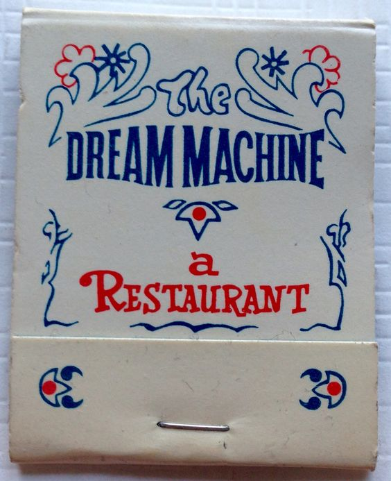 The Dream Machine, Orange CA #matchbook - To design & order your business' own logo #matches GoTo GetMatches.com