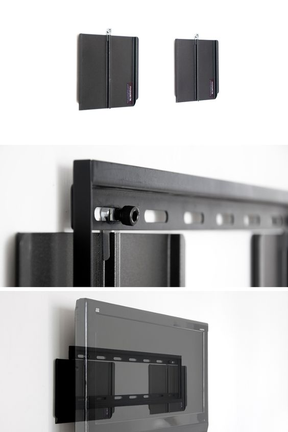 Installing a TV: Hanging two Magnektiks upon the metal infrasturcture; use a connector to install a generic TV mounting device to the Magnektiks, and hang your TV bit.ly/1icAHjz bit.ly/1icAHjz #magnets #gadgets #homeimprovment #DIY #TV