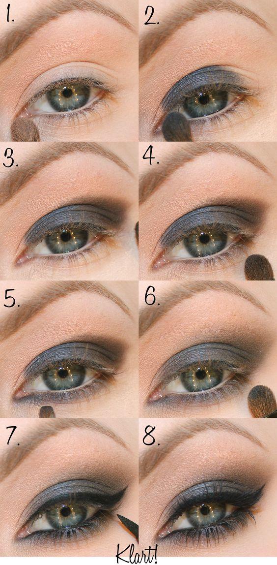 Lumene eyeshadow step by step