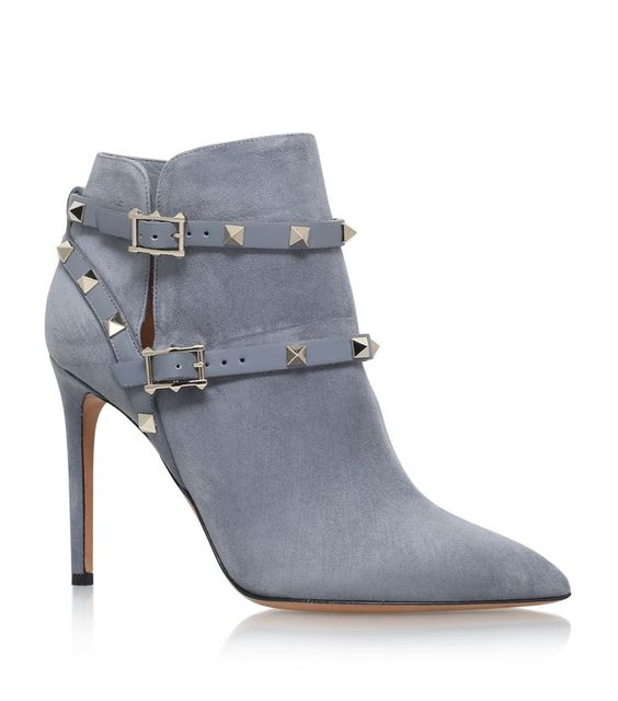 Valentino Rockstud Suede Ankle Boots 100 | Harrods