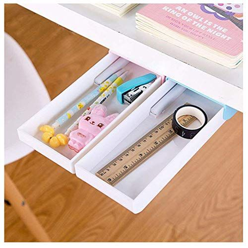 Pencil Tray Under Desk Drawer Organizer Storage Self Stic Https Www Amazon Com Dp B07798frsg Ref Cm Sw Organized Desk Drawers Desk With Drawers Drawer Box