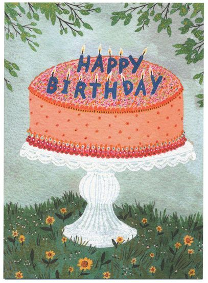 A charming birthday cake card.