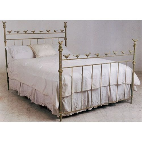i love this wrought iron bird bed for one of my girls' rooms