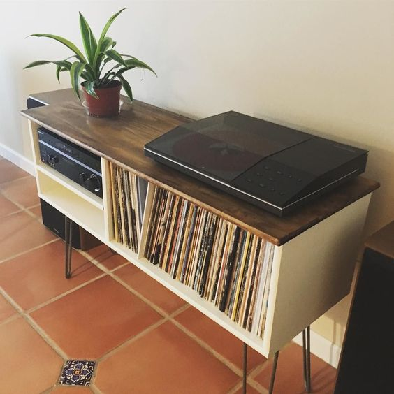 Here's another look at the new home we built for our @bangolufsen #record player.
