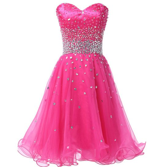 Hot Pink Short Women&-39-s Formal Dress - Bridesmaids - Prom - Party ...