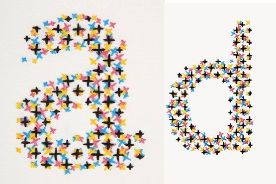 Enamored with these CMYK embroideries by @Evelin_Kasikov.