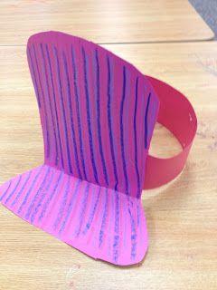 In the Children's Room:  Train Engineer Hat craft