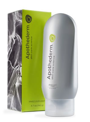 Our Apothederm Stretch Mark Cream reinforces the skin's fundamental support structures and helps to visibly repair existing stretch marks. This fast-absorbing lotion is formulated with our patented SmartPeptide technology and helps build collagen while reducing the appearance of red and silver stretch marks, all while smoothing your skin's texture.