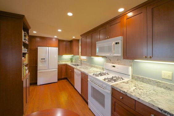 ... countertop space to spread out when cooking. We repositioned the stove