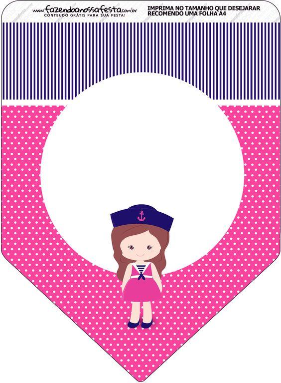 Bandeirinha Varalzinho Menina Marinheira
