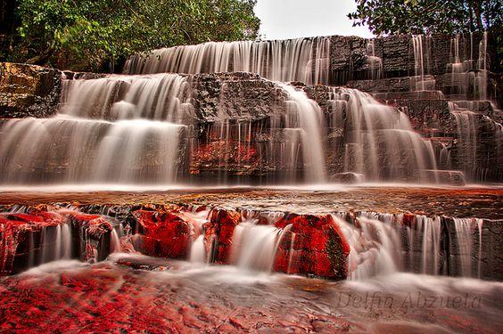 Jasper Creek en el Parque Nacional Canaima, Gran Sabana, Estado Bolívar, Guayana venezolana