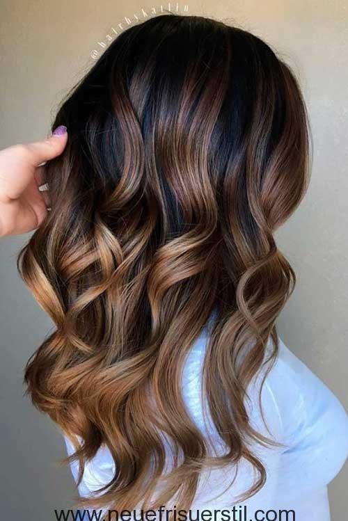 Ombre Lange Welliges Haar Haarschnitt Lange Haare Haarfarben