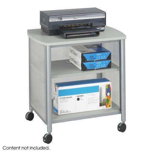 Symple Stuff Printer Stand With Shelf Printer Stand Computer Cart Grey Laminate