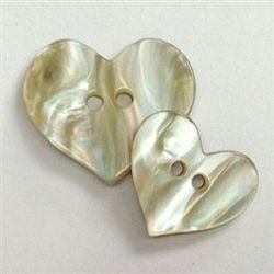 Iridescent Pearlized Large Heart Button Valentine Love $1.25