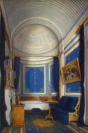 Edward Petrovich Hau Interiors du Palais d'Hiver.  La salle de bain du Grand Princess Maria Alexandrovna par Minerva