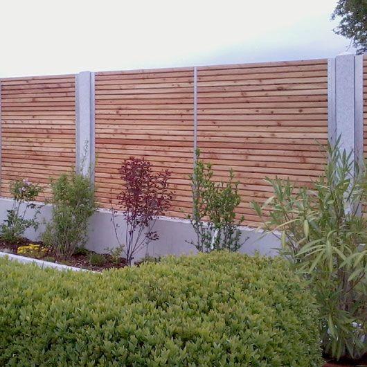 Design Sichtschutz-Zaun blickdicht aus Metall Holz Sibirische - gartenzaun blickdicht metall