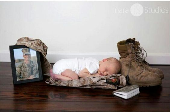 Military baby pic idea