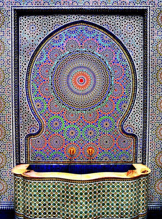 Zellige Marocain Salle De Bain : Mosaic Fountain