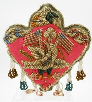 Trilobe Heart Pincushion, Mohawk tradition, early 20th century.