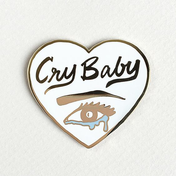 Cry Baby Lapel Pin by Little Arrow: